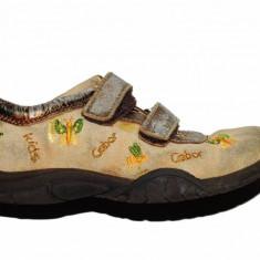 Pantofi copii - Pantofi bej cu auriu Gabor, piele, marime 27
