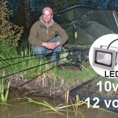 Proiector led 10W 12v alb rece panouri solare, camping-proiectoare led 10 W 12V - Proiectoare tuning, Universal