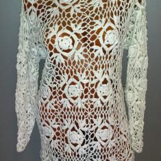 Rochie tricotate - Rochie unicat, crosetata - marimea M