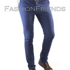 Pantaloni tip ZARA albastri -pantaloni barbati slim fit -pantaloni office - 5108, Marime: 33, Culoare: Din imagine