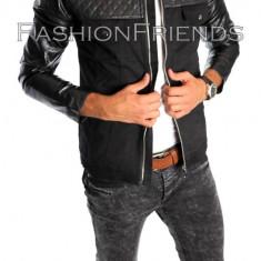 Geaca de blugi tip ZARA - geaca slim fit - geaca fashion - geaca de blugi 5202 - Geaca barbati, Marime: L, XXL, Culoare: Din imagine