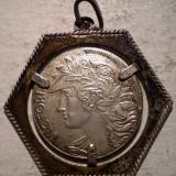 Pandantiv argint - I.681 PANDANTIV VICTORIA SAI BC .800 ARGINT 24mm/3, 5g