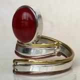 Inel argint 925 cu Carneol - mărimea 8 și mărimea 9, 5