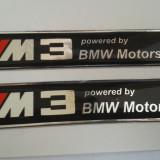 Embleme auto - 2 X Sticker/Logo/marca auto/emblema BMW ///M3 siliconata 3D