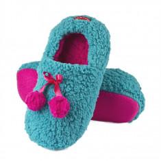 Papuci dama - Papuci de casa - art 63713 - albastru