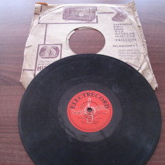 Placa gramofon/patefon muzica usoara romaneasca