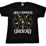 Tricou Hollywood Undead - Pentagrama - Tricou barbati, Marime: M, L, Culoare: Din imagine