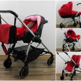 Carucior copii 3 in 1 - Carucior Bebe Confort Trio Streety Raspberry Red (Rosu)