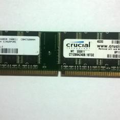 Memorie PC 1GB, PC3200, 400mhz, 184pin, CL3, testat, perfect functional - MICRON - Memorie RAM Crucial