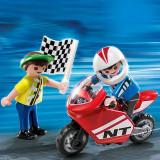 Jucarii Playmobil - Baieti Cu Motociclete