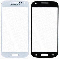 Folie de protectie - Pachet Geam + folie sticla Samsung S4 mini i9195 alb / negru touchscreen ecran