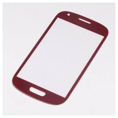 Geam carcasa - Ecran Samsung Galaxy s3 mini i8190 rosu geam