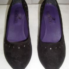 Pantofi dama eleganti din catifea Italmart marimea 41 - Made in Italy - Pantof dama Made in Italia, Culoare: Din imagine, Textil