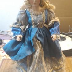 Papusa de colectie - Papusa Portelal de colectie Femeie cu rochie 43 cm