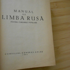 MANUAL DE LIMBA RUSA - 1961