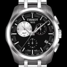 Ceas Tissot Couturier GMT ecran negru - Ceas barbatesc Tissot, Casual, Quartz, Inox, Cronograf, Analog
