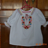 Costum popular lucrat manual - Costum populare, Marime: Alta, Culoare: Alb