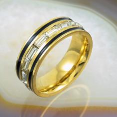 Inel placate cu aur - Inel Placat cu Aur 18K, presarat cu Zirconiu, cod 929