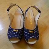 Sandale dama - SANDALE GUCCI - MARIMI -39-BLEUMARIN