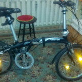 Bicicleta pliabile, 20 inch, 20 inch, Numar viteze: 7, Aluminiu, Negru - Bicicleta pliabila
