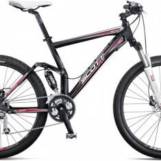 Mountain Bike Scott, 19 inch, 26 inch, Numar viteze: 27 - Bicicleta Scott full suspension - Shimano LX, frane Hidraulice