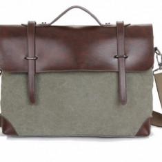 Geanta Barbati - Geanta barbateasca de zi cu zi/laptop panza + piele