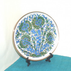 Farfurie colectie ceramica, decor cloisonne hand made - marcaj Manousakis Grecia - Arta Ceramica