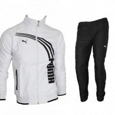 Trening barbati - Trening PUMA Fas - Alb - Bluza si Pantaloni Conici - Model NOU - Pret Special -