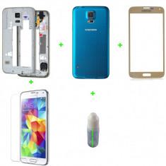 Rama Samsung Galaxy S5 + capac baterie + geam sticla+loca cleaner+folie sticla