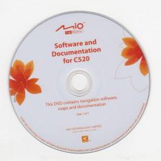 SET 2 CD instalare-actualizare hărţi pentru Navigator GPS MIO c520 (2007) - Software GPS