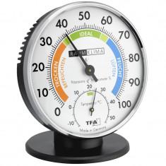 Higrometru si Termometru cu indicator de confort si suport