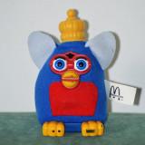 Jucarie Furby Rege, din material textil, McDOnalds 2001, 13 cm