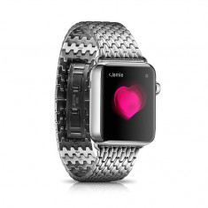 Bratara ceas iCarer, smartwatch Apple Watch 42mm, zale otel inoxidabil, LUX - Curea ceas din metal