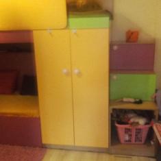 Set mobila dormitor - Dormitor copii cu paturi suprapuse