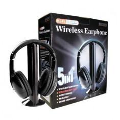 Casti cu microfon si wireless 5in1