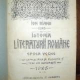 Istoria Literaturii Romane, epoca veche, Bucuresti 1925