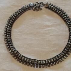 Bratara argint de Picior etnica Tribala afghana Vintage executata manual Superba