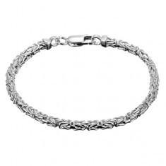 Brățară argint 925 - model bizantin oblic