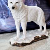 Statuetă lup alb Spiritul iernii - Sculptura