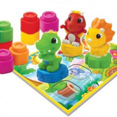 Set Cuburi Moi - Baby Clemmy - Dinozauri Veseli - 17066 - Jucarie zornaitoare Clementoni