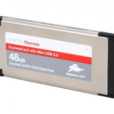 Raritate SSD Wintec 48GB MLC Express Card 34 expresscard Slot /mini USB2.0 Intel