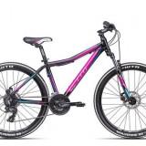 "Bicicleta dama CTM Charisma 2.0, 2016, cadru 16"", negru / mov Cod Produs: 037.34"