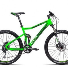 Biciclete Full Suspension CTM Revox, 2016, cadru SM, verde mat reflectorizant / negru Cod Produs: 035.19 - Mountain Bike