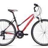 "Bicicleta dama CTM Maxima 2.0, 2016, cadru 16"", negru / rosu Cod Produs: 037.88"