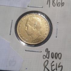 E.302 - PORTUGALIA - 2000 REIS 1866 - MONEDA AUR, Europa