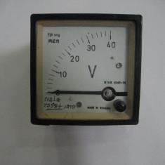 VOLTMETRU analogic 0 - 40V DC ( curent continuu)