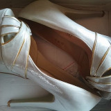 Pantofi dama - Pantof dama, Marime: 40, Culoare: Argintiu