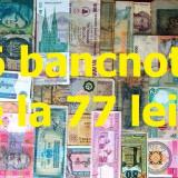 LICITAŢIE 66 BANCNOTE STRĂINE şi ROMÂNEŞTI - de la 77 LEI!!!