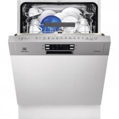 Masina de spalat vase semi incorporabila Electrolux ESI5540LOX, 13 Seturi, 6 Programe, Clasa A++, 60 cm, Gri