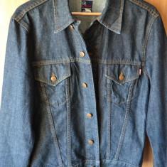 Geaca blugi originala INDIAN MOTOCYCLE / jeans USA / Geaca denim bumbac M/L - Geaca barbati, Marime: M, Culoare: Din imagine